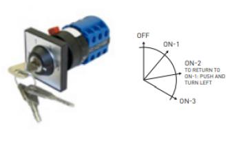 Comutator cu cheie 4 pozitii pentru nacele tractabile Dinolift