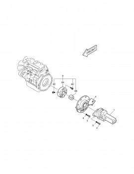 Cuplaj motor pentru miniexcavator Daewoo Doosan 3.5 tone