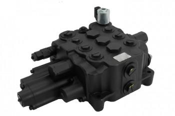 Distribuitor hidraulic complet, 3 valve, cu functie resetare pentru buldoexcavator JCB 3CX 4CX