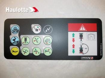 Eticheta telecomanda nacela Haulotte  HA 12 IP / HA 15 IP