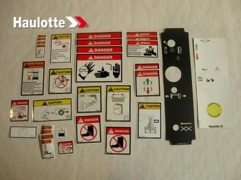 Kit etichete siguranta nacela foarfeca electrica Haulotte Compact
