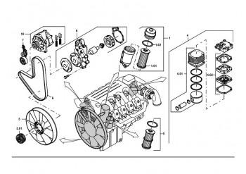 Pompa de apa pentru Manitowoc Grove pentru macara Grove-GMK5100