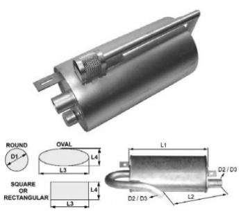 Toba de esapament 300 mm pentru stivuitoare Jungheinrich