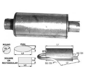 Toba de esapament 390 mm rotunda pentrustivuitoare Clark