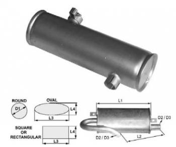 Toba de esapament 420 mm rotunda pentrustivuitoare Clark