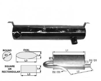 Toba de esapament 590 mm rotunda pentru stivuitoare Fenwick & Peg