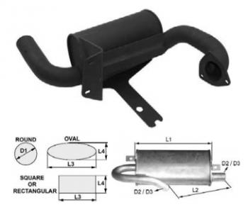 Toba de esapament ovala 355 mm pentru stivuitor JCB