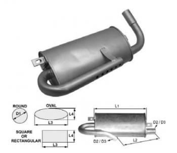 Toba de esapament ovala 400 mm pentru stivuitor Heli