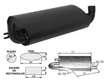 Toba de esapament ovala 515 mm pentru stivuitorJungheinrich