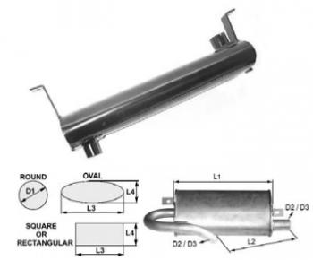 Toba de esapament ovala 577 mm pentru stivuitorJungheinrich