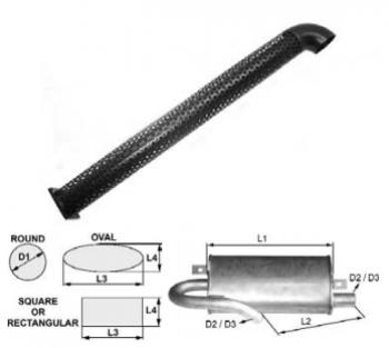 Toba de esapament rotunda 1000 mm pentru stivuitoare Jungheinrich