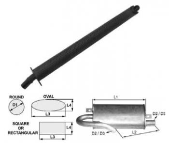 Toba de esapament rotunda 1073 mm pentru stivuitoare Jungheinrich