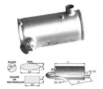 Toba de esapament rotunda 305 mm pentru stivuitoare Hyster