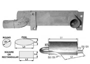 Toba de esapament rotunda 355 mm pentru stivuitor Jungheinrich