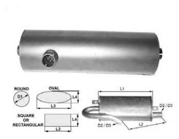 Toba de esapament rotunda 385 mm pentru stivuitor Hyster