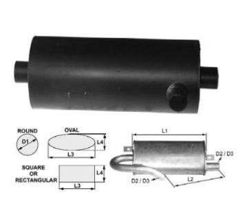 Toba de esapament rotunda 400 mm pentru stivuitor Hyster
