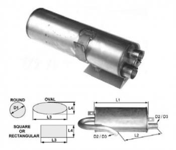 Toba de esapament rotunda 510 mm pentru stivuitoare Hyster
