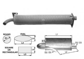 Toba de esapament rotunda 768 mm pentru stivuitoare Jungheinrich