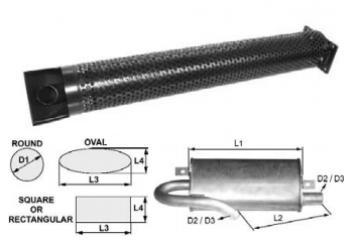 Toba de esapament rotunda 863 mm pentru stivuitoare Jungheinrich