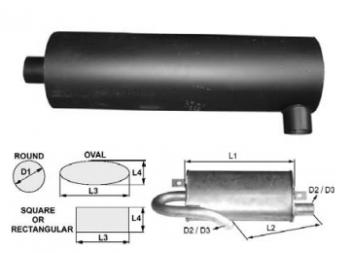 Toba de esapament rotunda 953 mm pentru stivuitoare Jungheinrich