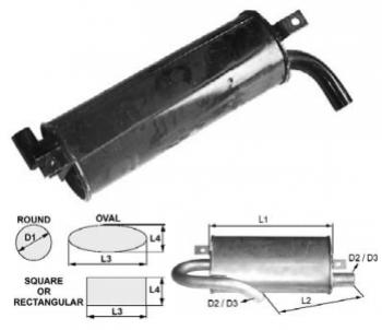 Toba esapament rotunda 430 mm pentru stivuitor Jungheinrich