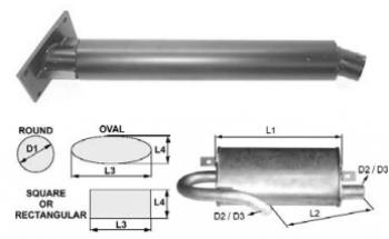 Toba esapament rotunda 615 mm pentru stivuitor Jungheinrich