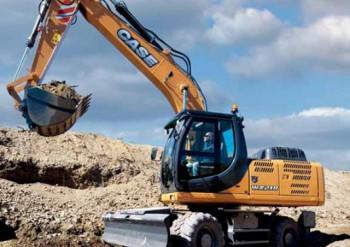 Excavator pe rotiCASEWX218