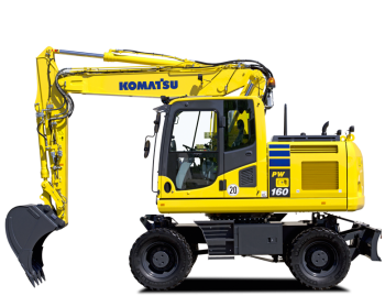 Excavator pe roti Komatsu PW160-10