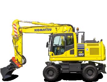 Excavator pe roti Komatsu PW180-10