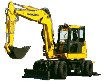 Excavator pe roti Komatsu PW98MR-10