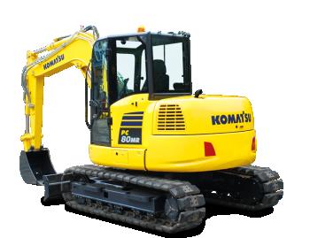 Excavator pe senile Komatsu PC80MR-5