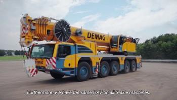 Macara cu brat telescopic 250 tone, automacara Demag AC250-5
